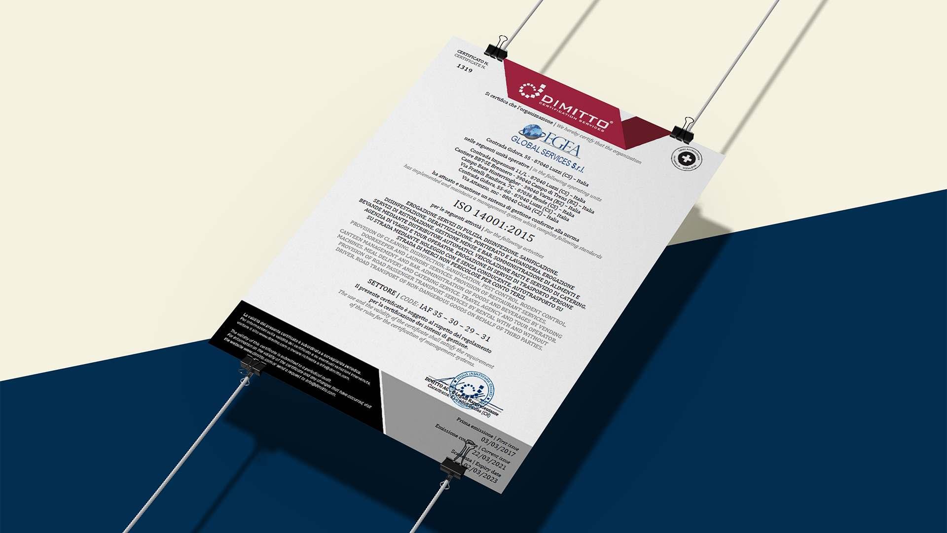 Le certificazioni di qualità di Egea Global Services