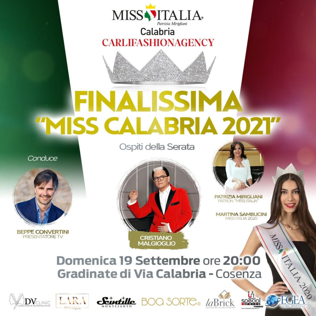 Locandina Miss Italia Calabria 2021 finale